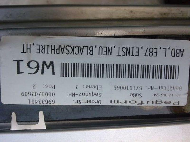 Verkleidung Schweller links Schwellerverkleidung linksBMW 1 (E87) 116D