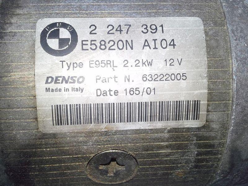 Anlasser PKW hat AutomaticgetriebeBMW 3 TOURING (E46) 330D