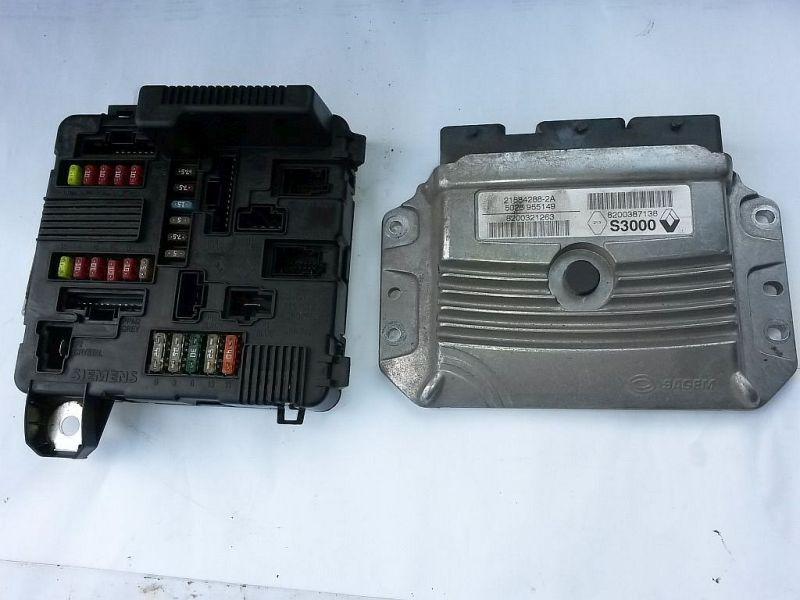 Steuergerät Motor Steuergeräte Satz RENAULT SCENIC II (JM0/1_) 1.4 16 V 72 KW