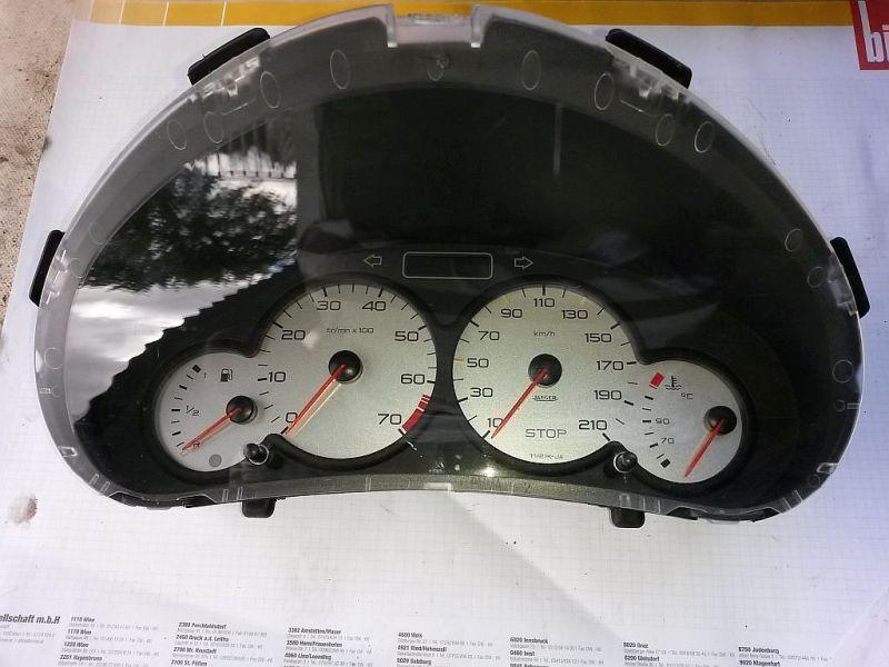 Tachometer Kombiinstrument PEUGEOT 206 SCHRÄGHECK (2A/C) 1.4I 55 KW
