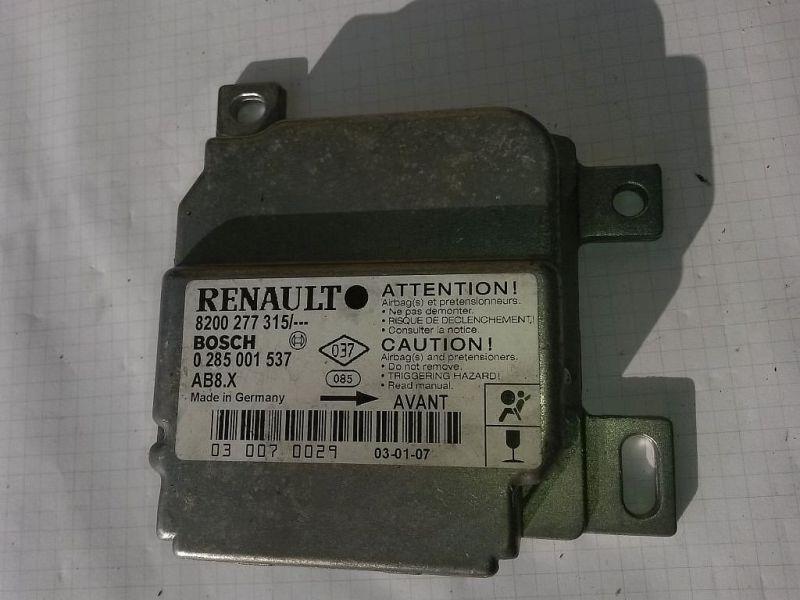 Steuergerät Airbag  RENAULT CLIO II (BB0/1/2_, CB0/1/2_) 1.5 DCI 48 KW