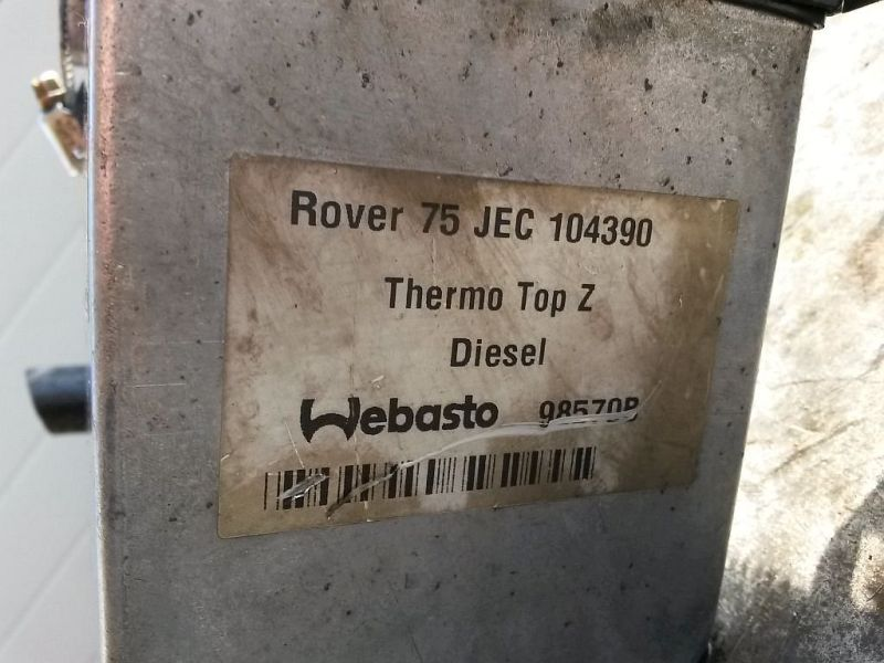 Standheizung ROVER 75 TOURER (RJ) 2.0 CDT